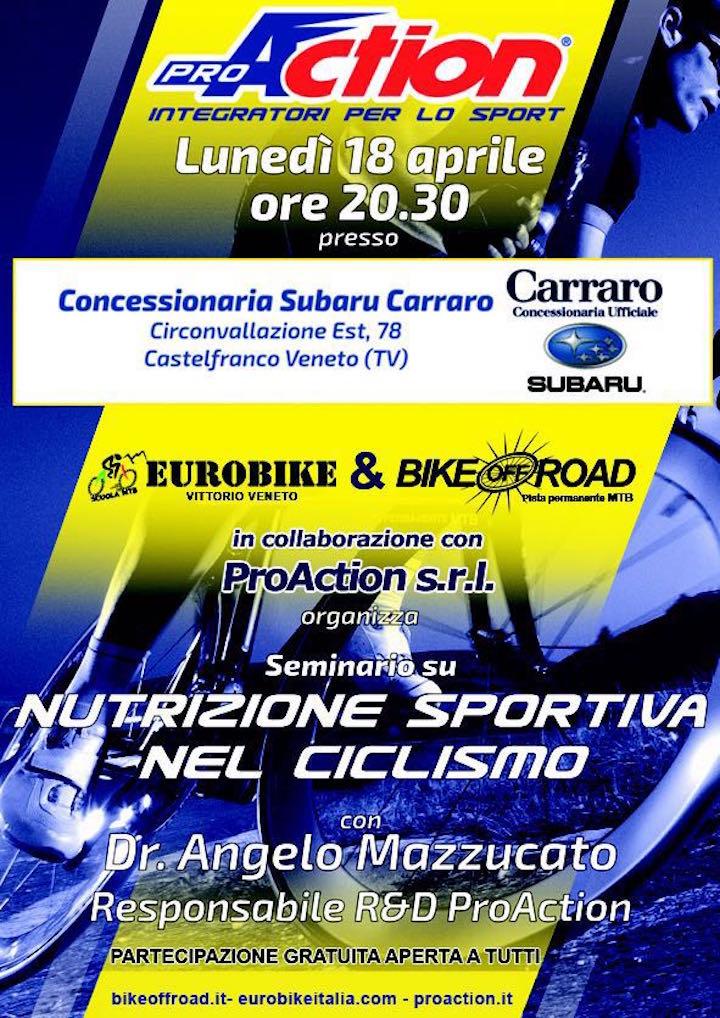 Seminario Nutrizione Sportiva nel Ciclismo