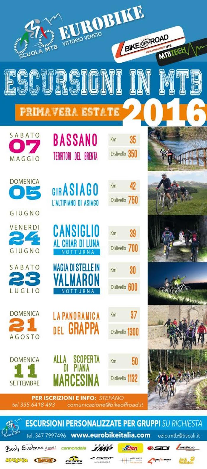 Escursioni MTB primavera-estate 2016