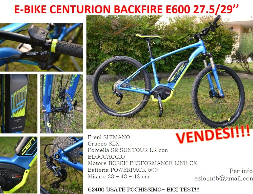 E-BIKE CENTURION BACKFIRE USATE IN VENDITA