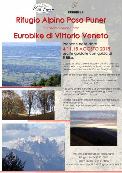 Rifugio Posa Puner escursioni eBike Agosto 2018