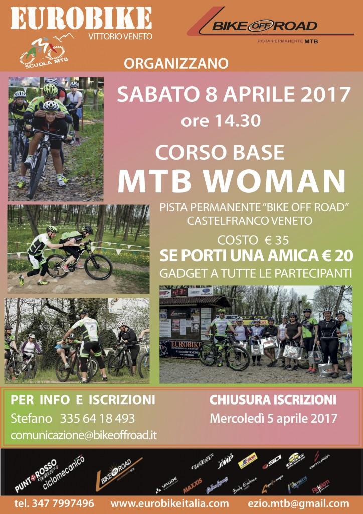 Locandina Corso MTB WOMAN 2017