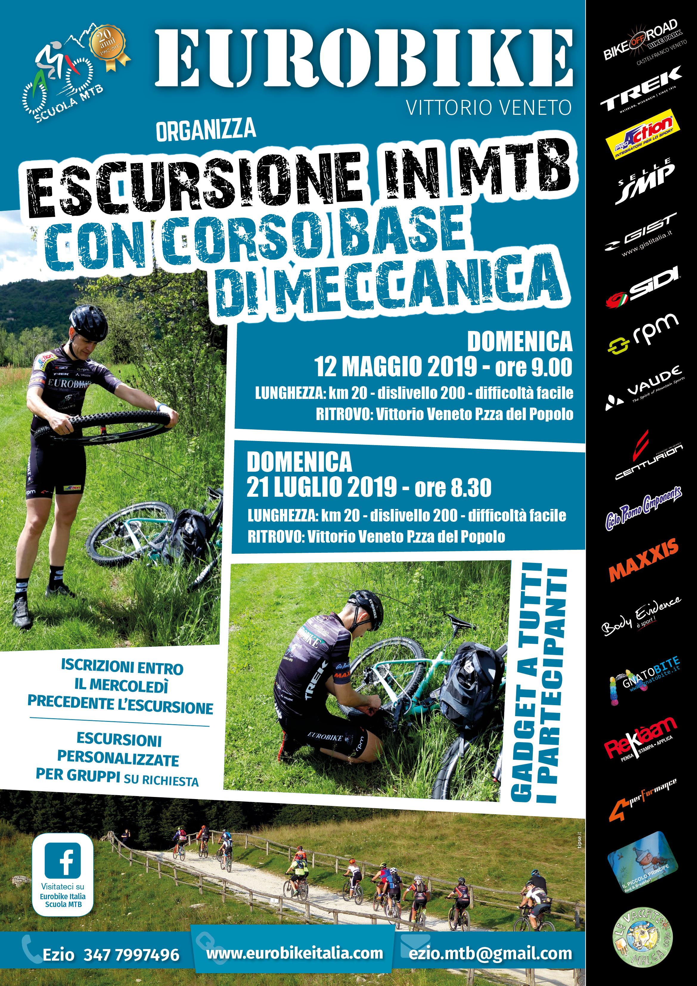12.05.2019: Locandina Eurobike Escursione con Corso di Meccanica