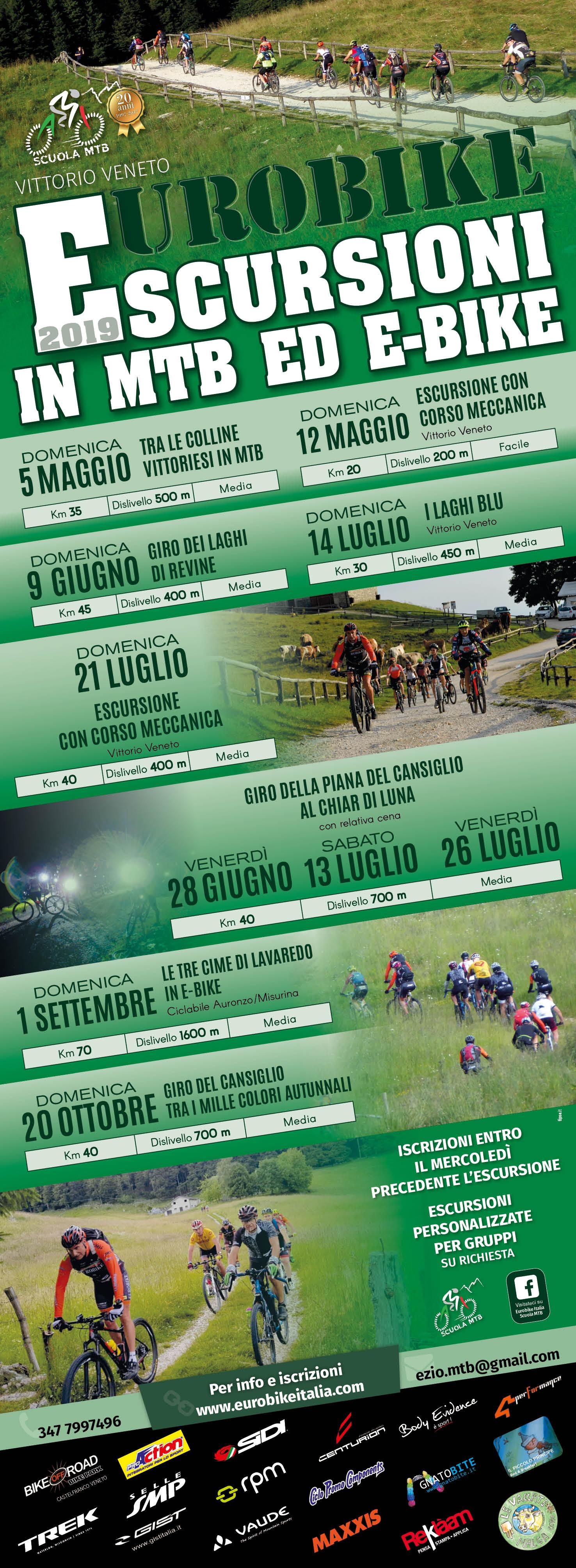 Calendario escursioni 2019