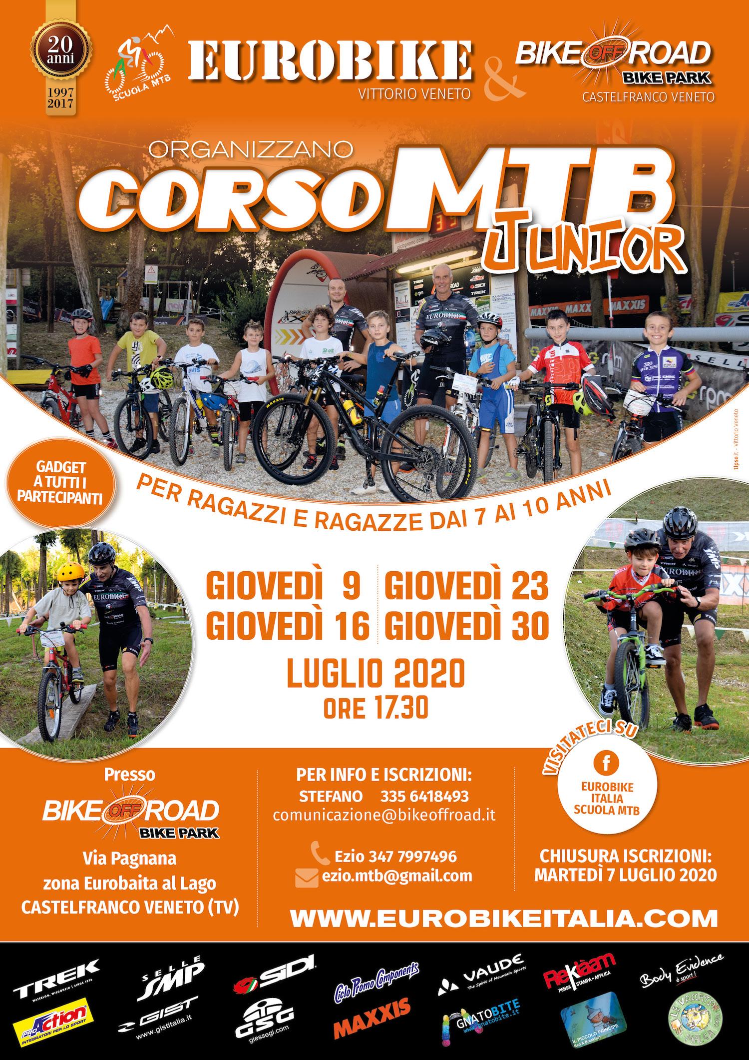 200704 Locandina CORSO JUNIOR MTB