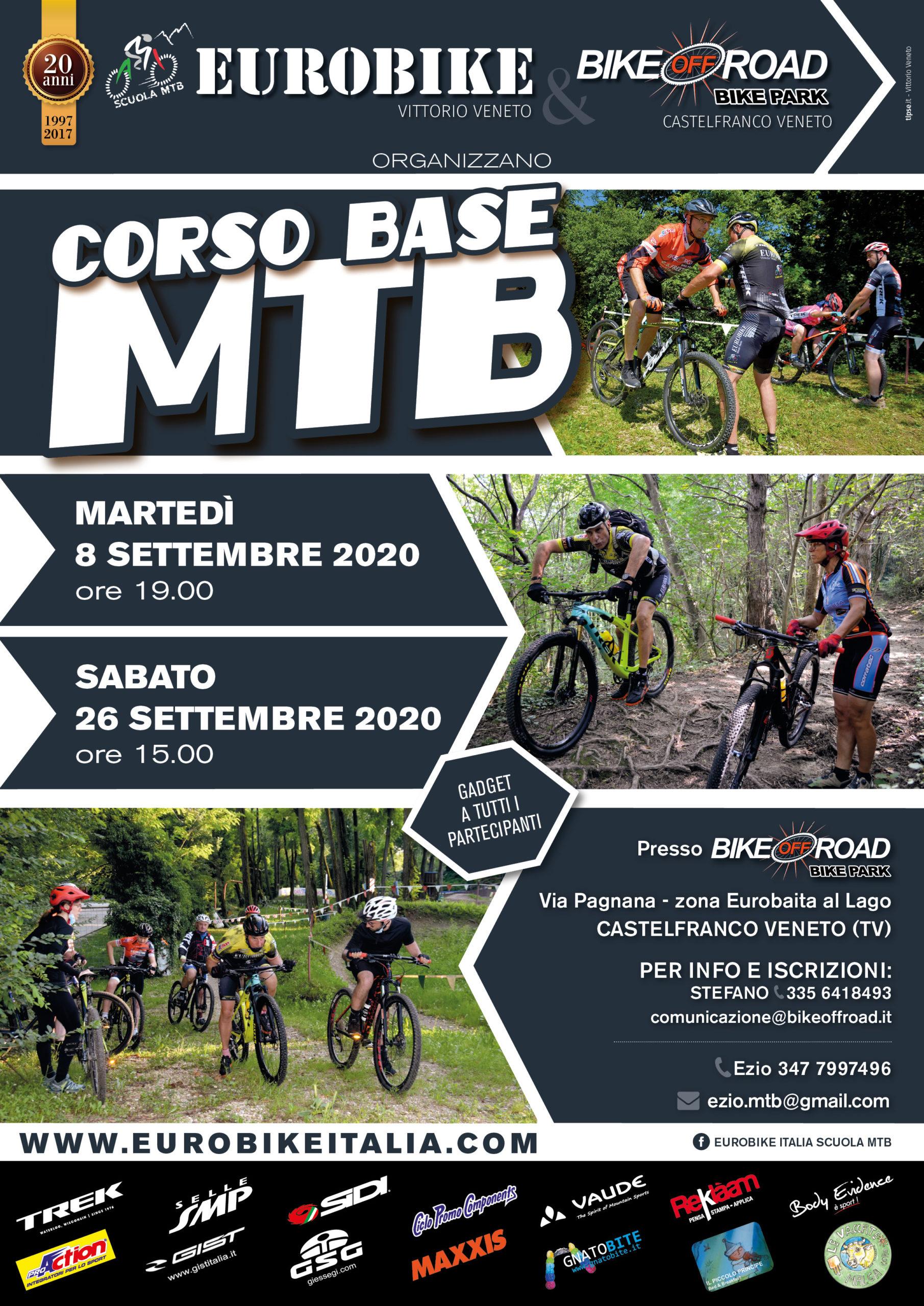 Corsi Base MTB Settembre 2020