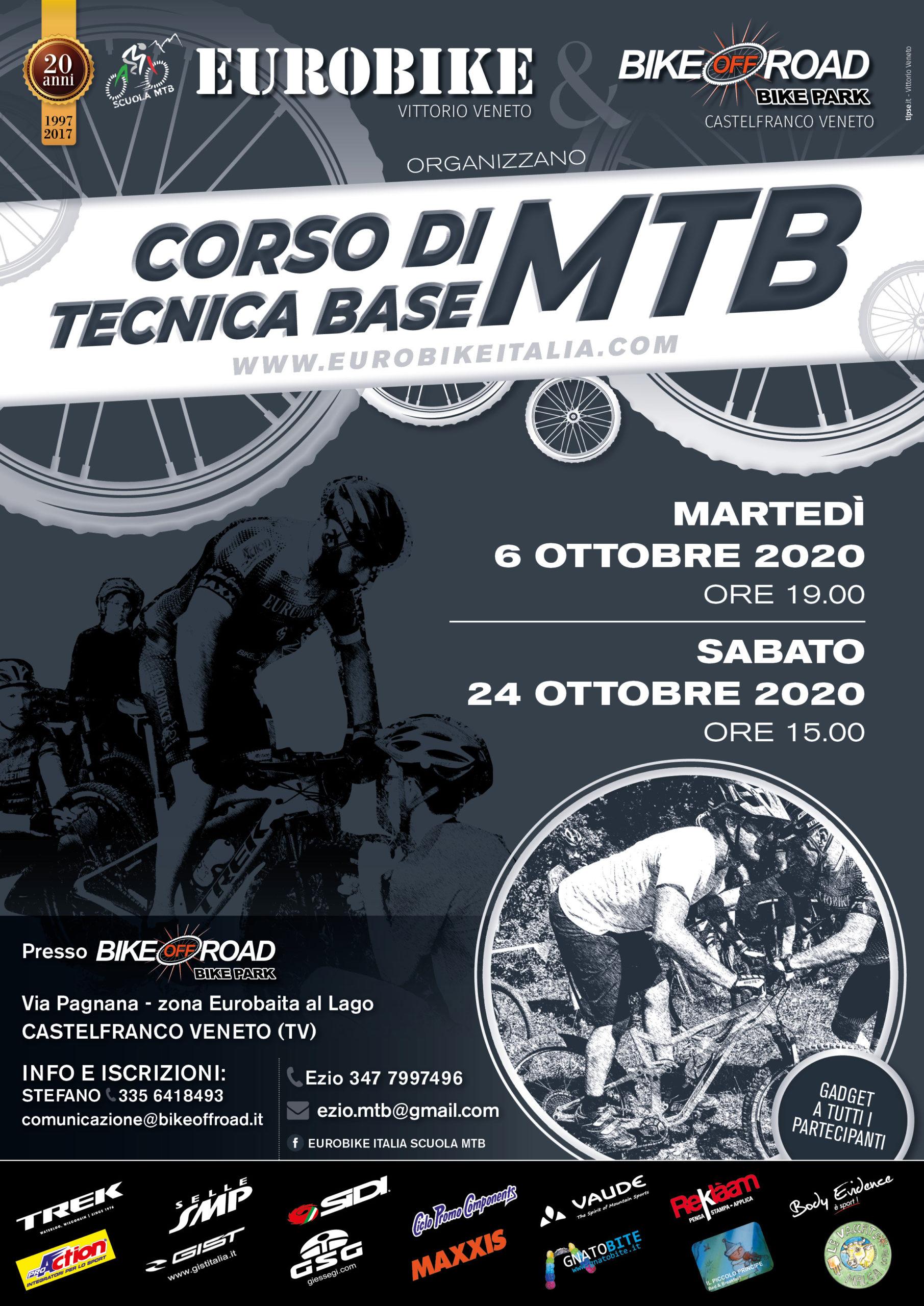 CORSI TECNICA BASE MTB - ottobre 2020